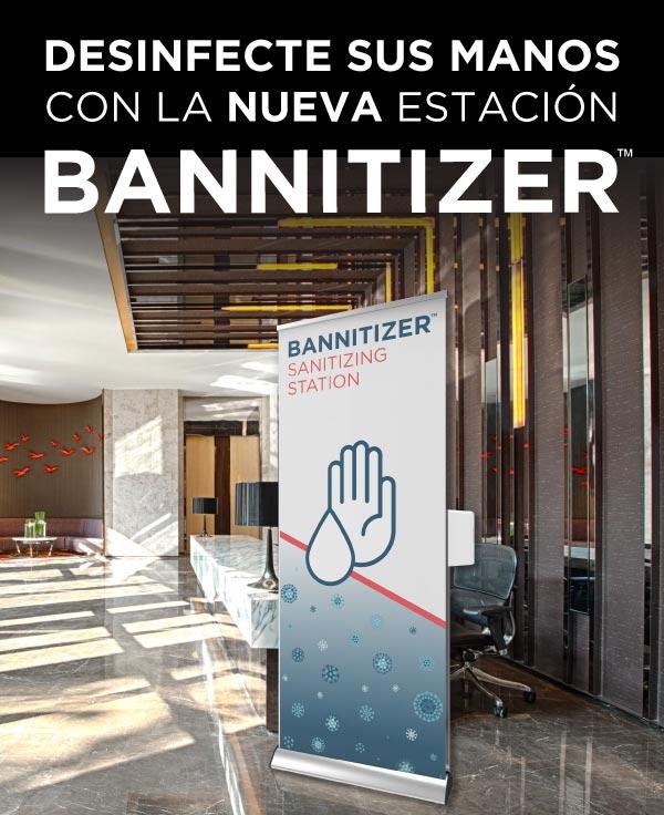 Definfecte sus manos con la nueva estación BANNITIZER